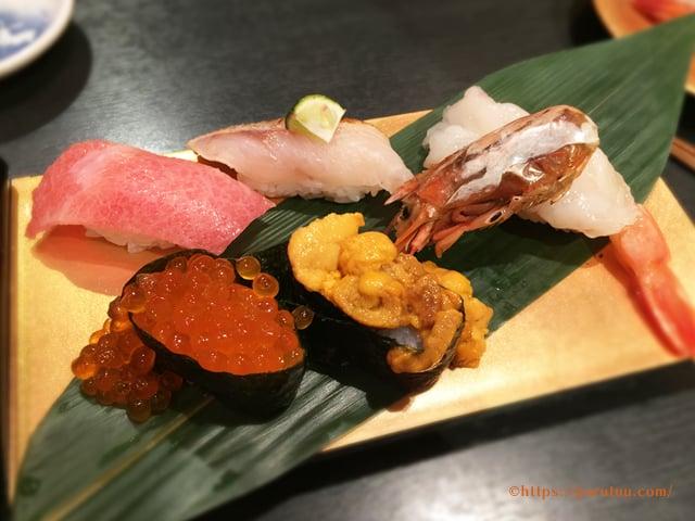 金沢まいもん寿司 まいもん5貫盛り 1,680円