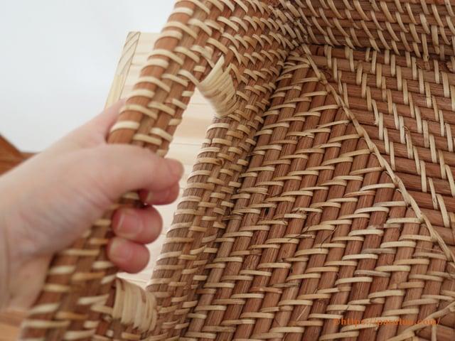ラタン材収納角型タイプ収納例