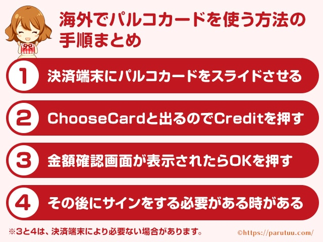 海外でパルコカードを使う方法まとめ